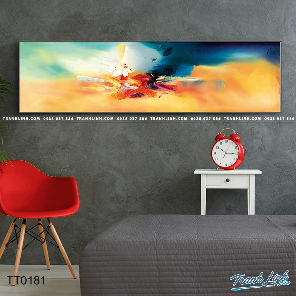 Bo tranh Canvas treo tuong trang tri phong khach truu tuong TT0181