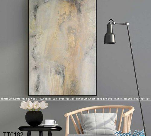 Bo tranh Canvas treo tuong trang tri phong khach truu tuong TT0182