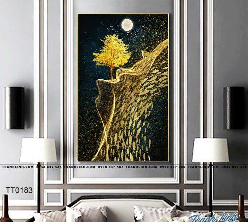 Bo tranh Canvas treo tuong trang tri phong khach truu tuong TT0183
