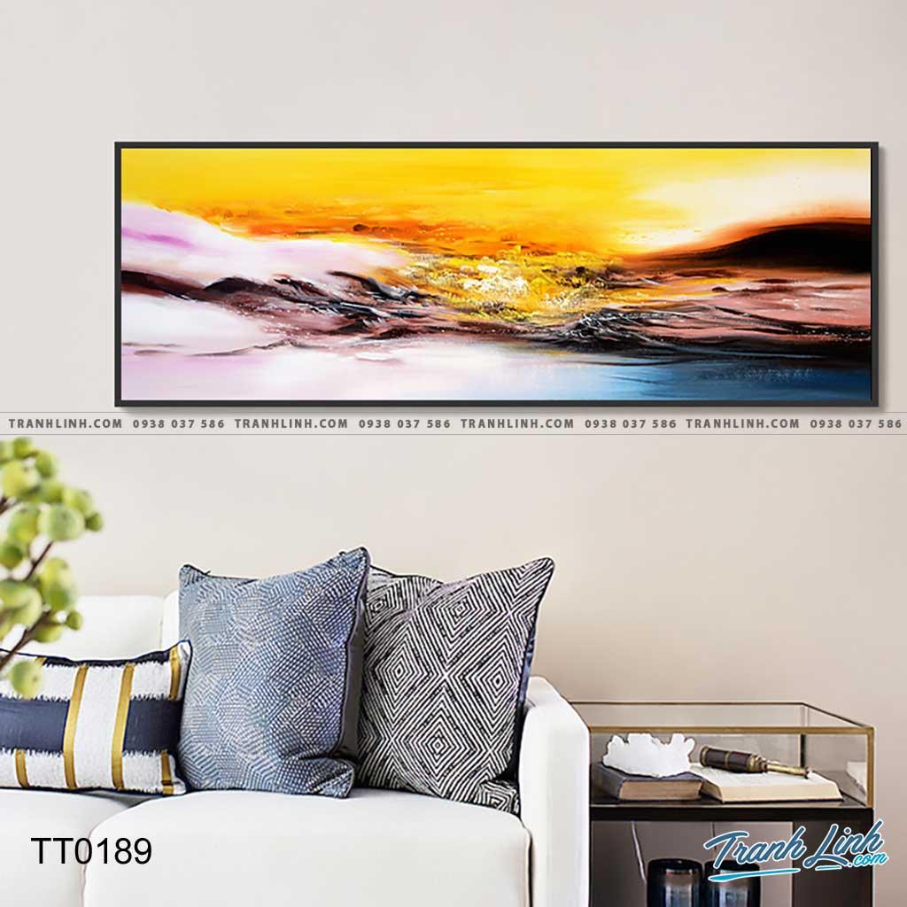 Bo tranh Canvas treo tuong trang tri phong khach truu tuong TT0189