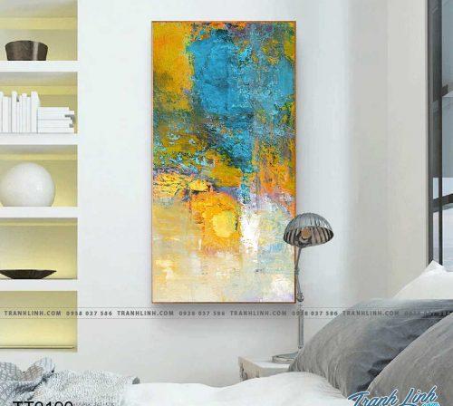 Bo tranh Canvas treo tuong trang tri phong khach truu tuong TT0190