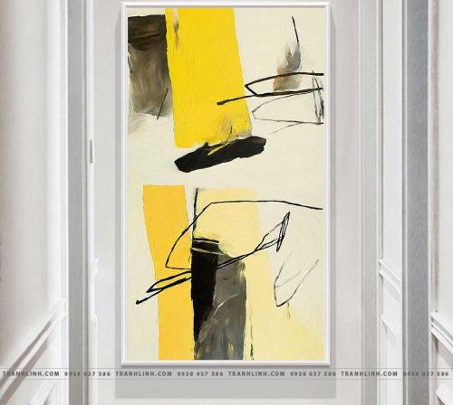 Bo tranh Canvas treo tuong trang tri phong khach truu tuong TT0197