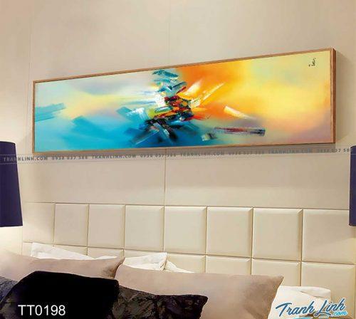 Bo tranh Canvas treo tuong trang tri phong khach truu tuong TT0198