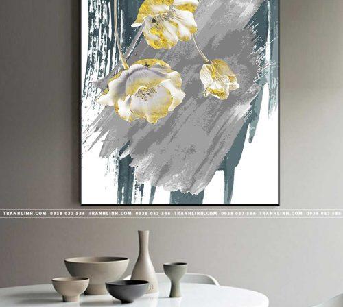 Bo tranh Canvas treo tuong trang tri phong khach truu tuong TT0203