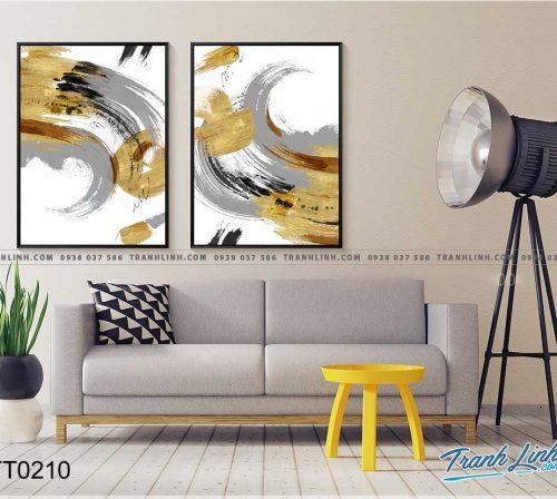 Bo tranh Canvas treo tuong trang tri phong khach truu tuong TT0210