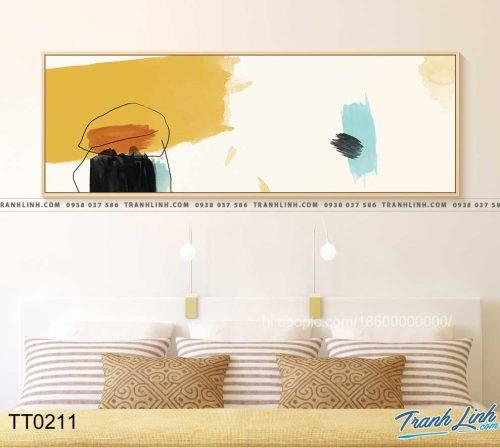 Bo tranh Canvas treo tuong trang tri phong khach truu tuong TT0211