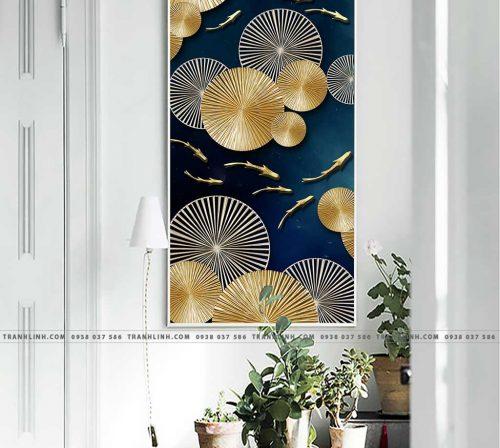 Bo tranh Canvas treo tuong trang tri phong khach truu tuong TT0215