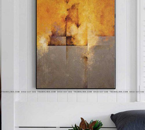 Bo tranh Canvas treo tuong trang tri phong khach truu tuong TT0221