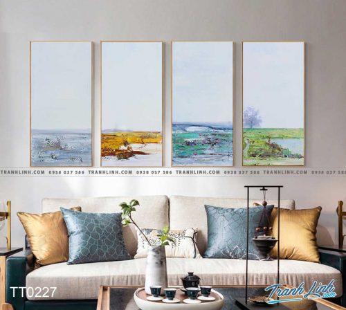 Bo tranh Canvas treo tuong trang tri phong khach truu tuong TT0227