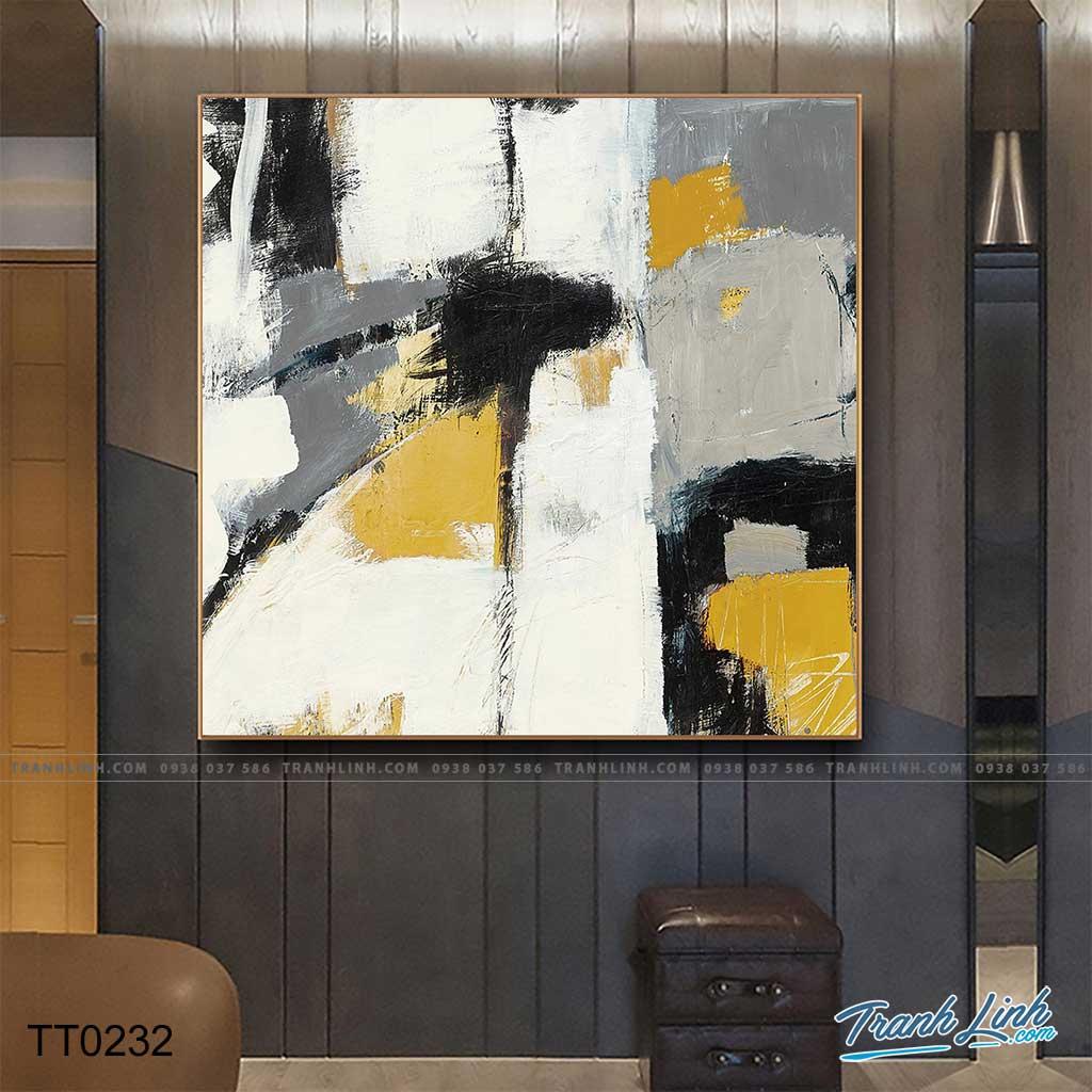 Bo tranh Canvas treo tuong trang tri phong khach truu tuong TT0232
