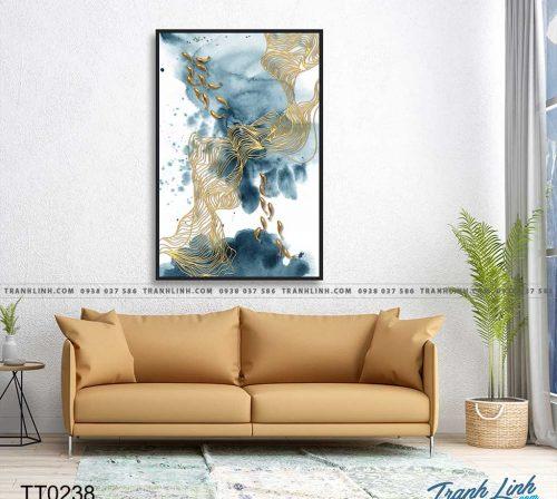 Bo tranh Canvas treo tuong trang tri phong khach truu tuong TT0238