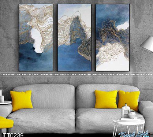 Bo tranh Canvas treo tuong trang tri phong khach truu tuong TT0239