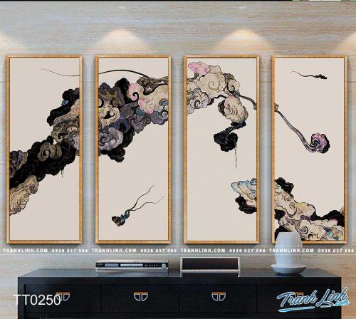 Bo tranh Canvas treo tuong trang tri phong khach truu tuong TT0250