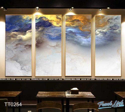 Bo tranh Canvas treo tuong trang tri phong khach truu tuong TT0254