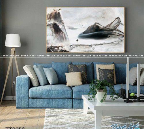 Bo tranh Canvas treo tuong trang tri phong khach truu tuong TT0256