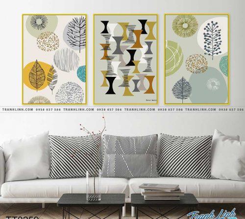 Bo tranh Canvas treo tuong trang tri phong khach truu tuong TT0259