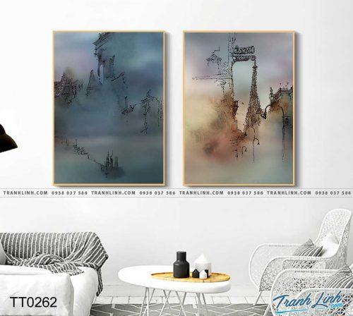 Bo tranh Canvas treo tuong trang tri phong khach truu tuong TT0262