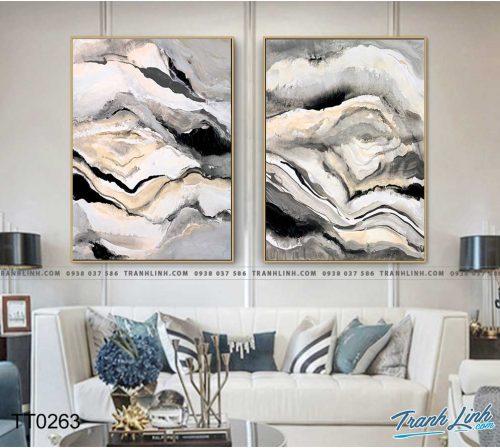 Bo tranh Canvas treo tuong trang tri phong khach truu tuong TT0263