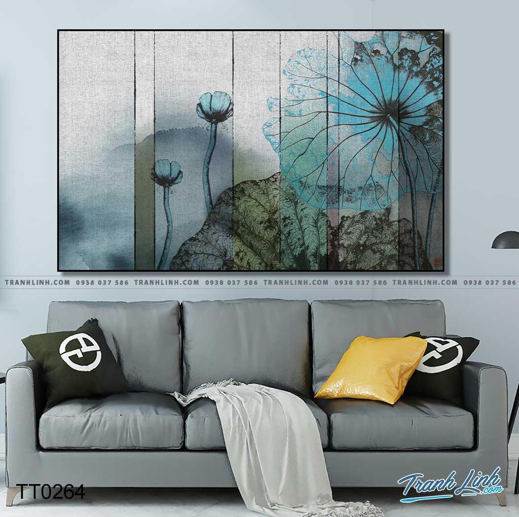 Bo tranh Canvas treo tuong trang tri phong khach truu tuong TT0264