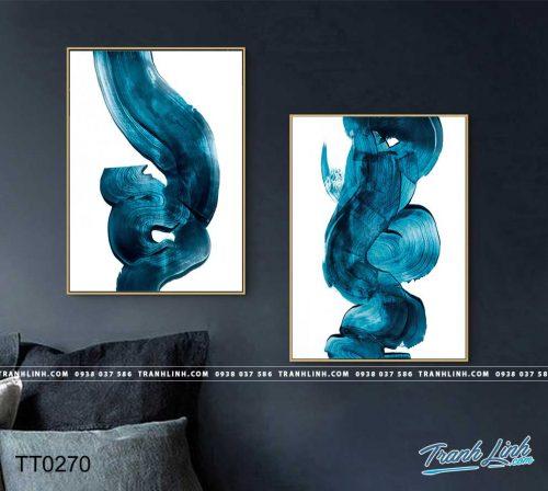 Bo tranh Canvas treo tuong trang tri phong khach truu tuong TT0270