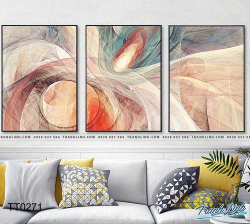 Bo tranh Canvas treo tuong trang tri phong khach truu tuong TT0271