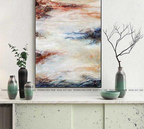 Bo tranh Canvas treo tuong trang tri phong khach truu tuong TT0278