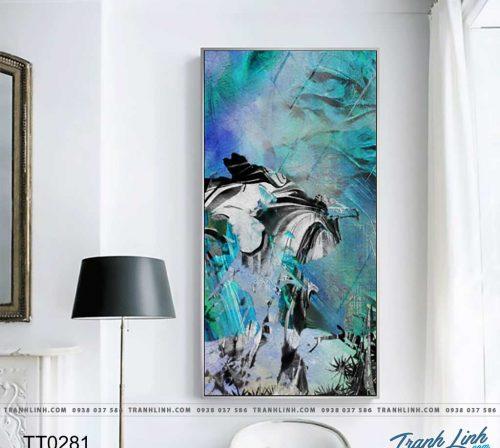 Bo tranh Canvas treo tuong trang tri phong khach truu tuong TT0281