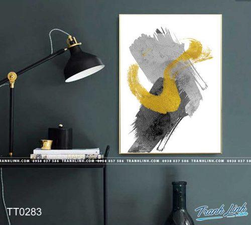 Bo tranh Canvas treo tuong trang tri phong khach truu tuong TT0283