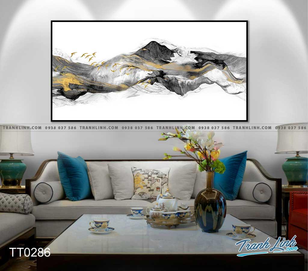 Bo tranh Canvas treo tuong trang tri phong khach truu tuong TT0286