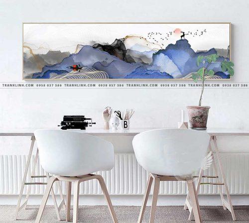 Bo tranh Canvas treo tuong trang tri phong khach truu tuong TT0288