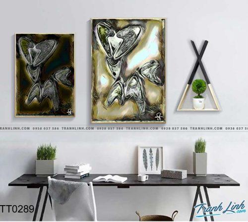 Bo tranh Canvas treo tuong trang tri phong khach truu tuong TT0289