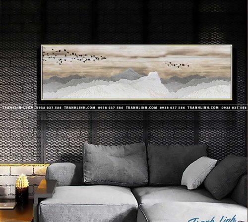 Bo tranh Canvas treo tuong trang tri phong khach truu tuong TT0292