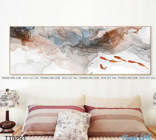 Bo tranh Canvas treo tuong trang tri phong khach truu tuong TT0293