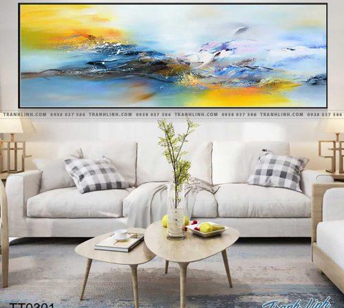 Bo tranh Canvas treo tuong trang tri phong khach truu tuong TT0301