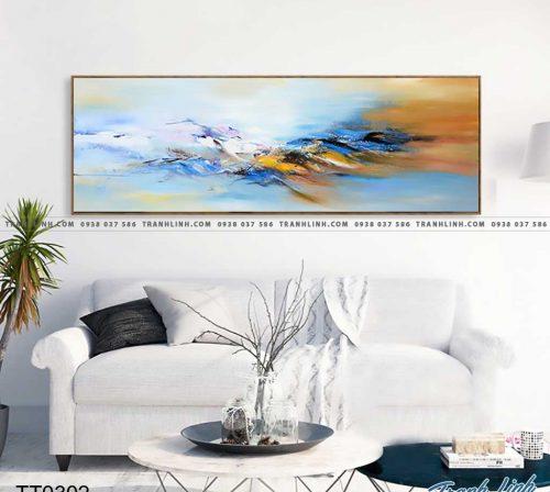 Bo tranh Canvas treo tuong trang tri phong khach truu tuong TT0302