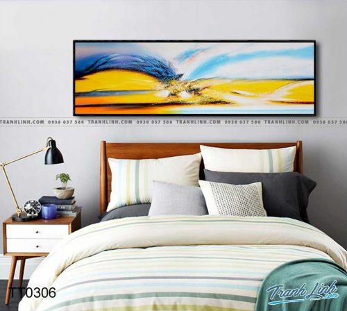 Bo tranh Canvas treo tuong trang tri phong khach truu tuong TT0306