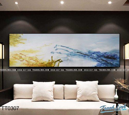 Bo tranh Canvas treo tuong trang tri phong khach truu tuong TT0307