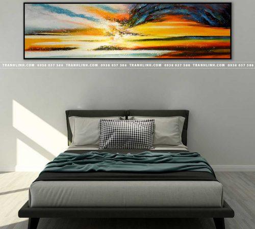 Bo tranh Canvas treo tuong trang tri phong khach truu tuong TT0311
