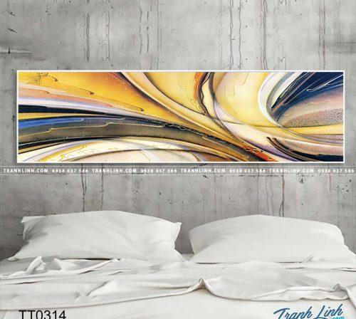 Bo tranh Canvas treo tuong trang tri phong khach truu tuong TT0314