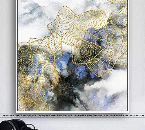 Bo tranh Canvas treo tuong trang tri phong khach truu tuong TT0322