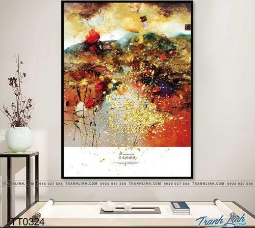 Bo tranh Canvas treo tuong trang tri phong khach truu tuong TT0324