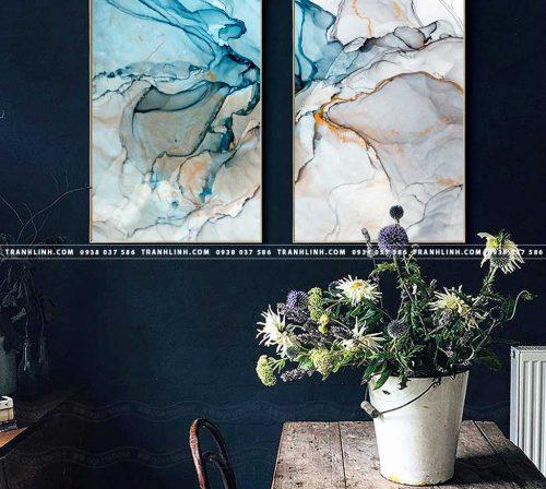 Bo tranh Canvas treo tuong trang tri phong khach truu tuong TT0325