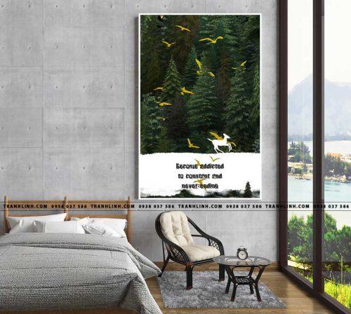Bo tranh Canvas treo tuong trang tri phong khach truu tuong TT0326