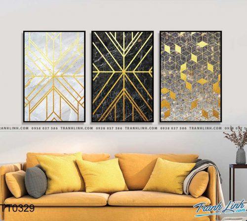 Bo tranh Canvas treo tuong trang tri phong khach truu tuong TT0329