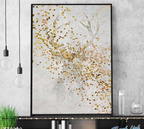 Bo tranh Canvas treo tuong trang tri phong khach truu tuong TT0330
