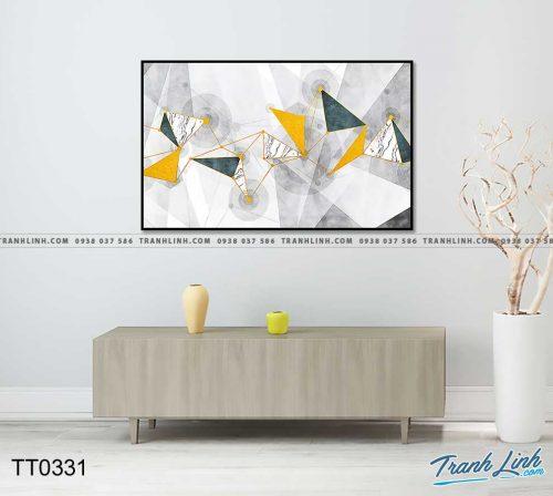 Bo tranh Canvas treo tuong trang tri phong khach truu tuong TT0331