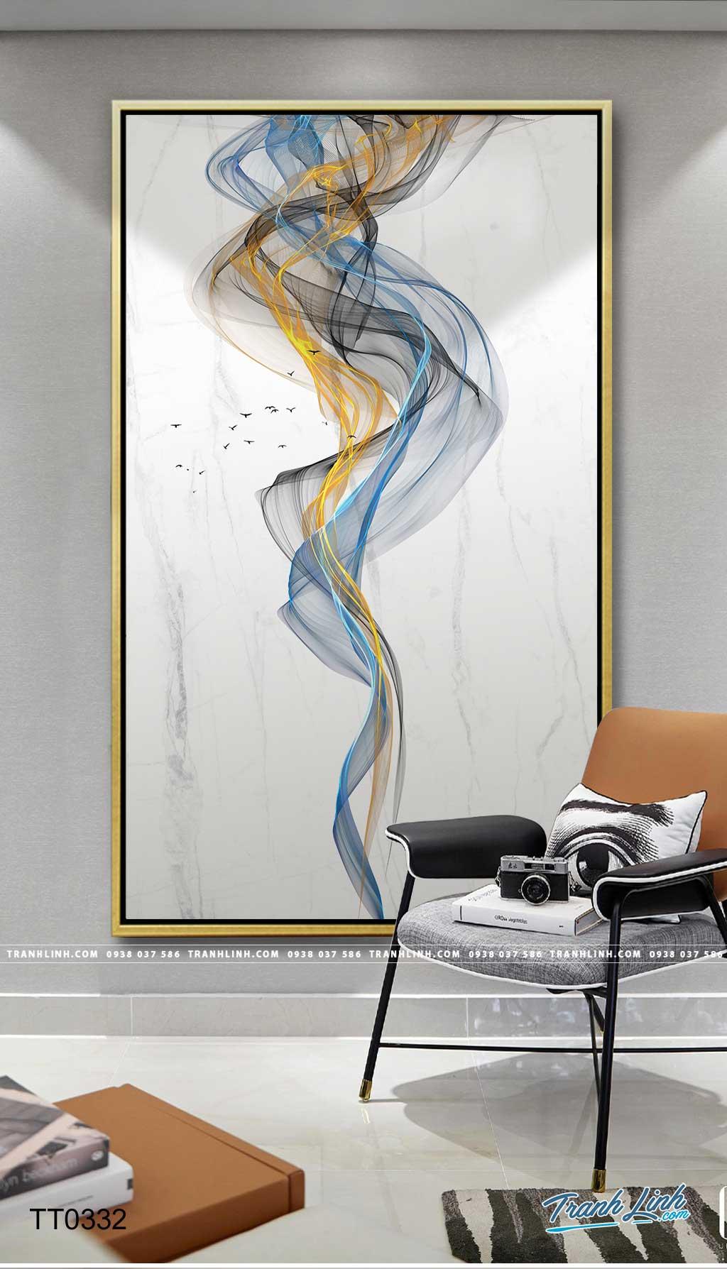 Bo tranh Canvas treo tuong trang tri phong khach truu tuong TT0332