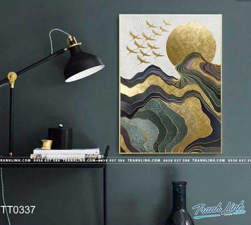 Bo tranh Canvas treo tuong trang tri phong khach truu tuong TT0337