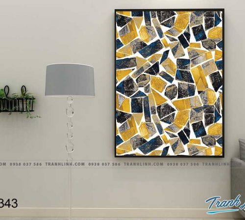 Bo tranh Canvas treo tuong trang tri phong khach truu tuong TT0343