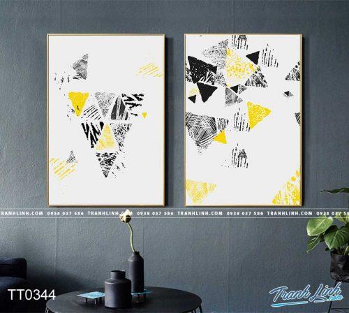 Bo tranh Canvas treo tuong trang tri phong khach truu tuong TT0344